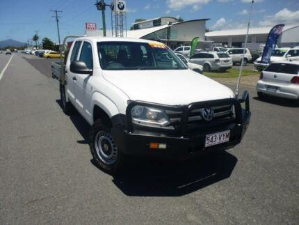 2013 Volkswagen Amarok 2H MY13 TDI400 (4x4) White 6 Speed Manual Cab Chassis Bungalow Cairns City Preview