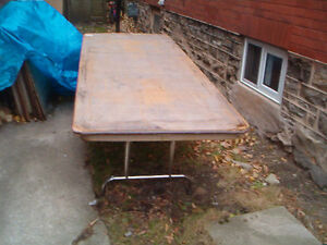 Sturdy Folding Wooden Banquet Tables Kitchener / Waterloo Kitchener Area image 1