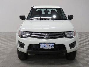2014 Mitsubishi Triton MN MY14 Update GLX (4x4) White 4 Speed Automatic 4x4 Dual Cab Utility Jandakot Cockburn Area Preview