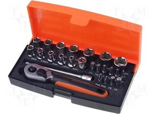 Bahco SL25 Socket Set 25-Piece 1/4-Inch Drive