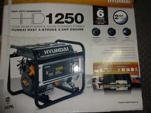 Hyundai HHD1250, 1000 Running Watts/1250 Starting Watts, Gas Pow