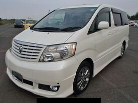 Toyota Alphard direct from Japan and UK registered by the UK Supplier