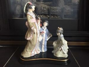 VINTAGE ORIENTAL LLADRO PORCELAIN FIGURINE FOR SALE