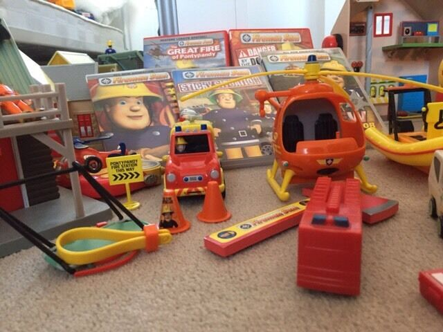 Fireman Sam toys and DVDs