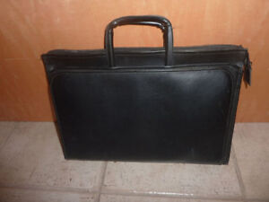 Faux leather briefcase