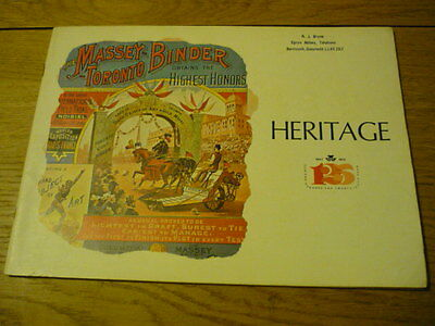 "VERY NICE MASSEY FERGUSON ""HERITAGE "" HISTORY TRACTOR Brochure   jm"