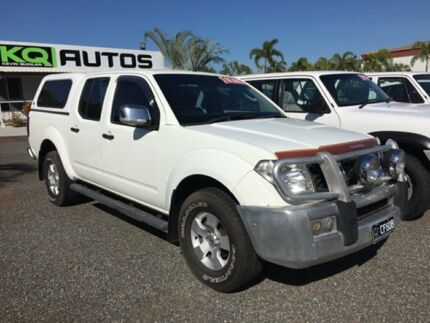 2008 Nissan Navara D40 4x4 White 4 Speed Auto Active Select Dual Cab
