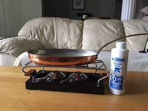 Gourmet Copper Pan and Bunsen Burner