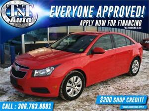2014 Chevrolet Cruze LT-LOW KM-BLUETOOTH-SATELLITE-WINTER READY!