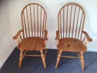 Pair of Country Kitchen Fireside Chairs! FREE LOCAL DELIVERY