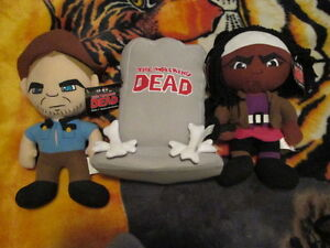 The walking dead stuffed Rick and Michone plus Tombstone.
