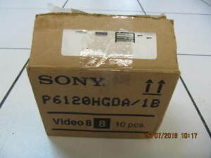 Classic 10pc Lot Of Sony P6-120HGD/Hi8 Video Tapes Circa 1990s