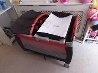 Graco Pack n Play Travel Cot 2 Level Music Vibration Light Carry Bag Play Pen ~Change Table
