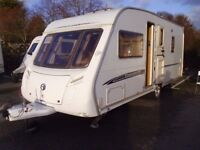 2006 Swift Challenger 500 FIXED BED 4 Berth Touring Caravan inc Awning.