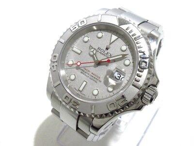 Auth ROLEX Yacht-Master Rolesium 16622 Silver, Platinum A932736 Men
