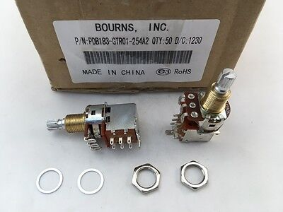 5 Pcs Pdb183-gtr01-254a2 Bourns 250k Ohm 1-gang 1-turn Guitar Potentiometer