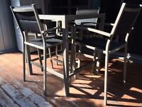 4 Seat Bar Top Dining Set with Custom Weather Cover