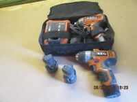 Drill driver, Impact driver + Drill driver, Bag, charger 4 batteries