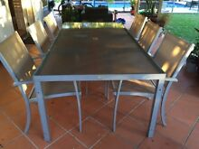 6 seater, Urban Concepts glass top outdoor dining table Bardon Brisbane North West Preview