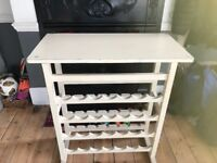 SHABBY CHIC WINE RACK/TABLE FOR SALE