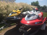 $10,000 FIRM package deal 2 -2007 seadoo RXT 215 &double trailer