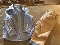 Boys John Lewis shirt and trouser set, BNWOT age 3-6 months
