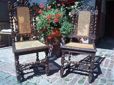 Stühle,Französische Stühle,Flechtstühle,Stilmöbel,Prunkmöbel,1870 Antik