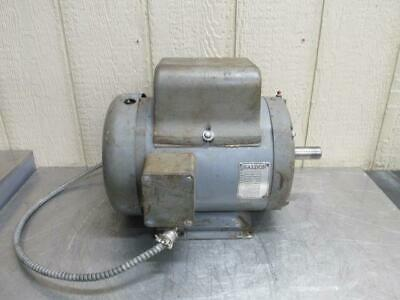 Baldor 37c11-90 Electric Motor 5 Hp 115230 Volt 1725 Rpm 1 Ph Single Phase
