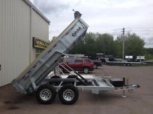 "New 2015 Cam Advantage 80"" x 12' HD Galvanized Dump Trailer"