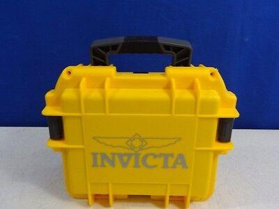 Invicta 3 Slot Dive Watch Diver Collectors Case (Yellow) Hard Impact Storage Box