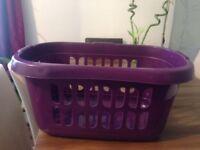 Deep Purple Wham Hipster Laundry Basket