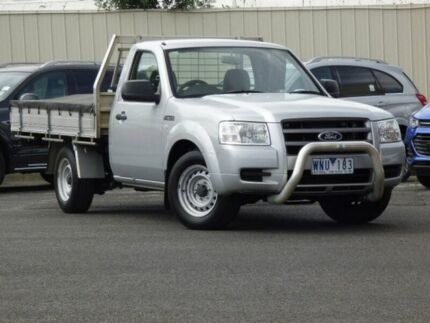 2007 Ford Ranger PJ XL Silver 5 Speed Manual Cab Chassis Diggers Rest Melton Area Preview
