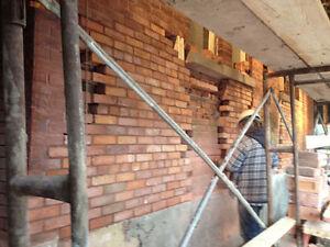 Maçonnerie, restauration de murs, crépis, cheminée, fissure West Island Greater Montréal image 5