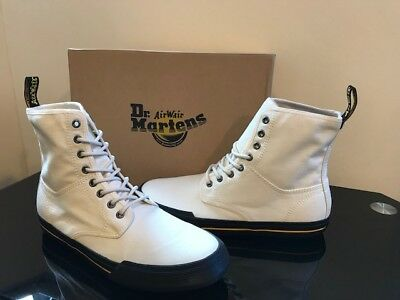 BNIB DR MARTENS AIR WAIR ECRU CANVAS WINSTED BOOTS UK 9
