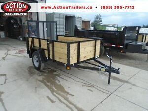 ULTIMATE HIGH SIDED UTILITY TRAILER FOR ALL PURPOSE USE 5X8