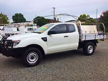2013 Ford Ranger PX XL 3.2 (4x4) White 6 Speed Manual Super Cab Pick-up Newcastle Newcastle Area Preview