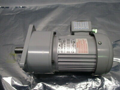 Brother G3K22N060-BMK4A 3-Phase Induction Motor, 1/4 HP, 4P, 60:1, RS1075