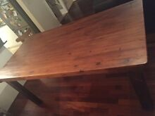 Recycled railway sleeper table - rustic/vintage look Caringbah Sutherland Area Preview