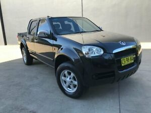 2009 Great Wall V240 K2 Super Luxury Utility Dual Cab 4dr Man 5sp 1000kg 2.4i Black Manual Utility Villawood Bankstown Area Preview