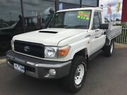 2011 Toyota Landcruiser WORKMATE 4X4 White Manual Trayback Traralgon Latrobe Valley Preview