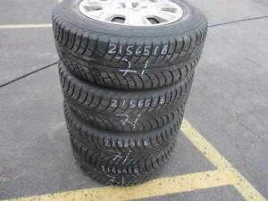 215/65 R16 VOLVO WINTER TIRES AND RIMS PACKAGE (SET OF 4) - USED GISLAVED NORD FROST APPROX. 85% TREAD