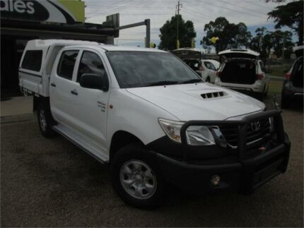 2012 Toyota Hilux KUN26R MY12 SR White Manual Cab Chassis Penrith Penrith Area Preview