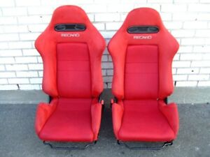 JDM RED RECARO OEM SUPER CLEAN HONDA ACURA DC5 RSX PAIR SEATS