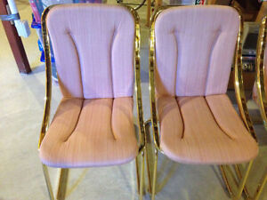 Vintage Italian made Golden Brass Chairs (Set of 4)