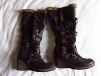 Leather boots size EU38