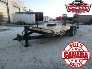 14K - 7 x 18 HD Equipment Trailer -*CANADIAN MADE!*- Tax In!