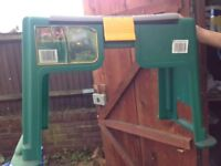 GARDEN TOOL CART AND SEAT WITH TOOLS INCLUDED