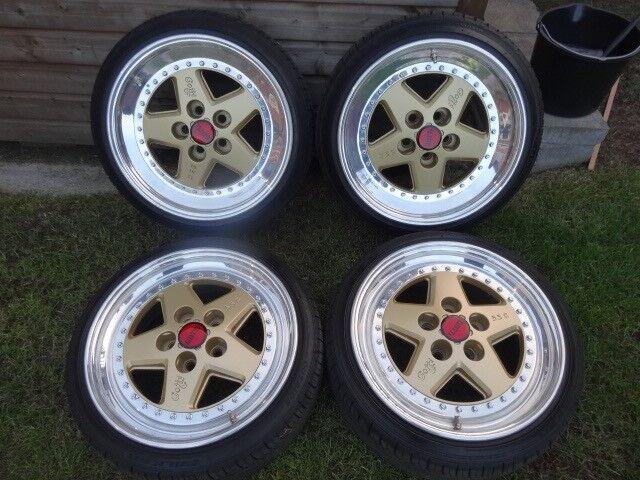 "Gotti Type 55C 3 Pc Alloy Wheels 17"" in BBS Gold"