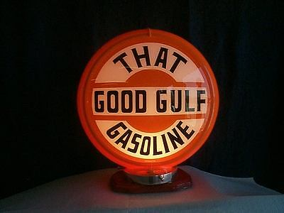 THAT GOODGULF gas pump globe reproduction 2 GLASS LENS in a plastic body NEW