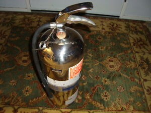 NICE 1980'S CHROME FIRE EXTINGISHER FROM BROCK UNIVERSITY